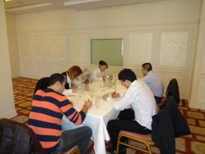 "Сляпа дегустация на претендентите за Регионален конкурс "" Сомелиер на годината "" 2014 в град Бургас"