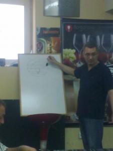 Днес на 22.6.2013г. започна поредния курс по сомелиерство в София